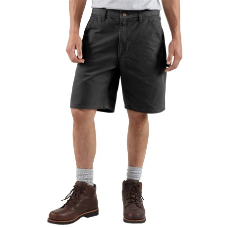 Carhartt Work Shorts - Washed Duck (For Men) in Black
