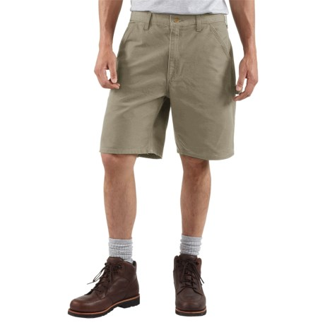 Carhartt Work Shorts - Washed Duck (For Men) in Moss