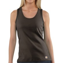 Carhartt Work Tank Top - Ring-Spun Cotton (For Women) in Mahogany - 2nds