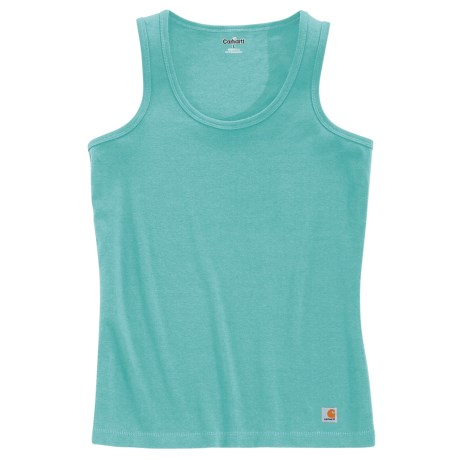 Carhartt Work Tank Top - Ring-Spun Cotton (For Women) in Turquiose
