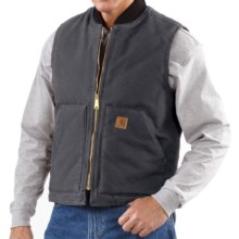 Carhartt Work Vest - Sandstone Duck (For Tall Men) in Shadow - 2nds