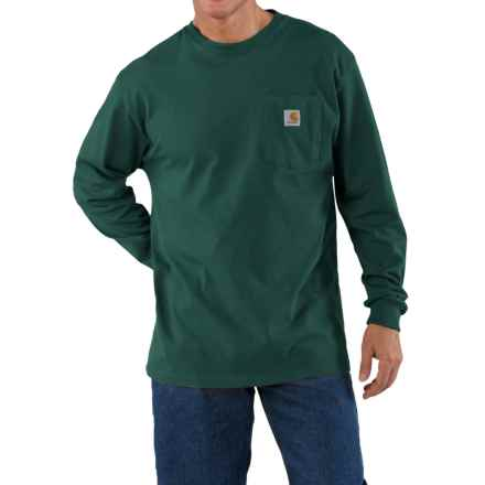 Carhartt Work Wear Shirt - Long Sleeve (For Tall Men) in Hunter Green - 2nds
