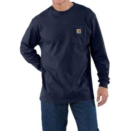 Carhartt Work Wear Shirt - Long Sleeve (For Tall Men) in Navy - 2nds