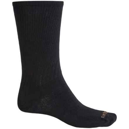 Carhartt Work Wear Socks - 3-Pack, Crew (For Men) in Black - Closeouts