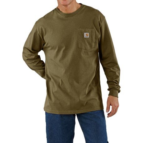 Carhartt Work Wear T-Shirt - Long Sleeve (For Men) in Army Green