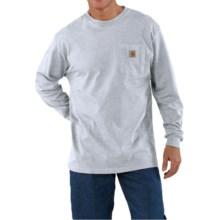 Carhartt Work Wear T-Shirt - Long Sleeve (For Men) in Ash - 2nds