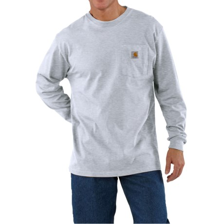 Carhartt Work Wear T-Shirt - Long Sleeve (For Men) in Ash