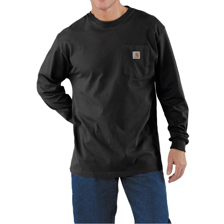 Carhartt work wear t shirt long sleeve for men for Black long sleeve work shirt
