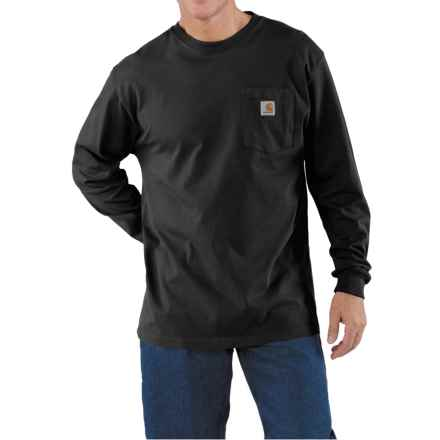 Carhartt Work Wear T-Shirt - Long Sleeve (For Men) in Black - 2nds