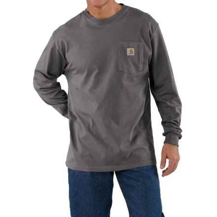 Carhartt Work Wear T-Shirt - Long Sleeve (For Men) in Charcoal - 2nds