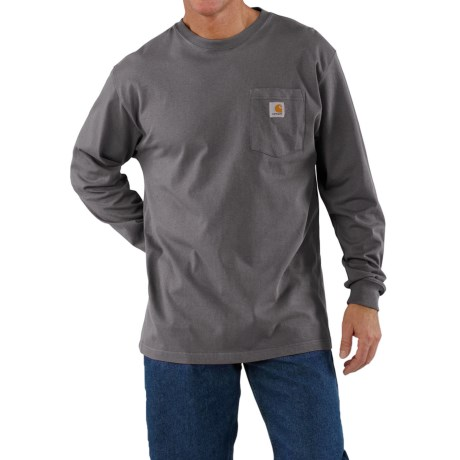 Carhartt Work Wear T-Shirt - Long Sleeve (For Men) in Charcoal