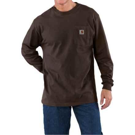Carhartt Work Wear T-Shirt - Long Sleeve (For Men) in Dark Brown - 2nds