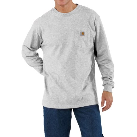 Carhartt Work Wear T-Shirt - Long Sleeve (For Men) in Heather Grey