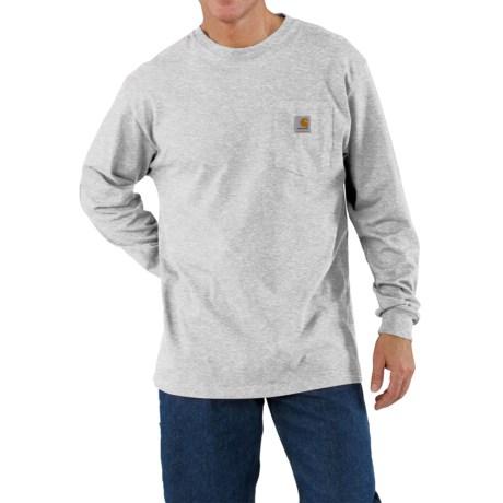 Carhartt Work Wear T-Shirt - Long Sleeve (For Men) in Heather Grey
