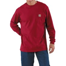 Carhartt Work Wear T-Shirt - Long Sleeve (For Men) in Independence Red - 2nds