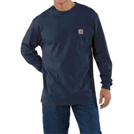 Carhartt Work Wear T-Shirt - Long Sleeve (For Men) in Navy - 2nds