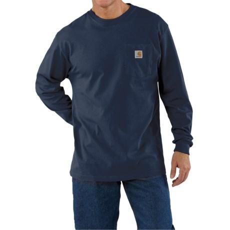 Carhartt Work Wear T-Shirt - Long Sleeve (For Men) in Navy