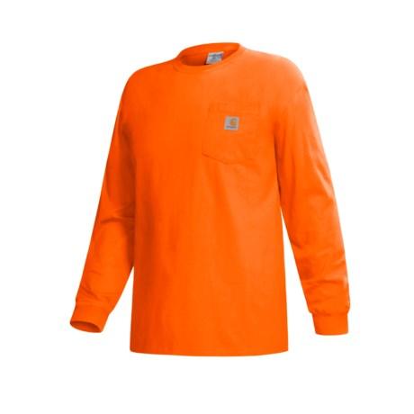 Carhartt Work Wear T-Shirt - Long Sleeve (For Men) in Orange