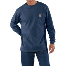 Carhartt Work Wear T-Shirt - Long Sleeve (For Men) in Royal - 2nds