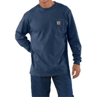 Carhartt Work Wear T-Shirt - Long Sleeve (For Men) in Royal