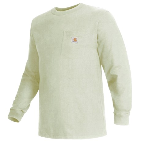 Carhartt Work Wear T-Shirt - Long Sleeve (For Men) in Sand