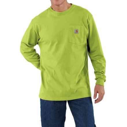 Carhartt Work Wear T-Shirt - Long Sleeve (For Men) in Sour Apple - 2nds