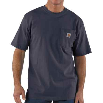 Carhartt Work Wear T-Shirt - Short Sleeve, Factory Seconds (For Tall Men) in Bluestone - 2nds