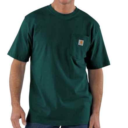 Carhartt Work Wear T-Shirt - Short Sleeve, Factory Seconds (For Tall Men) in Hunter Green - 2nds