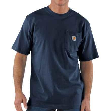 Carhartt Work Wear T-Shirt - Short Sleeve, Factory Seconds (For Tall Men) in Navy - 2nds