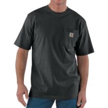 Carhartt Work Wear T-Shirt - Short Sleeve (For Men) in Black - 2nds