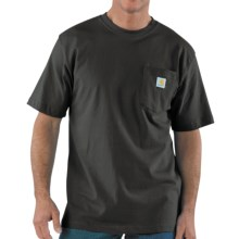 Carhartt Work Wear T-Shirt - Short Sleeve (For Men) in Charcoal - 2nds