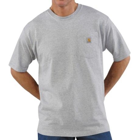 Carhartt Work Wear T-Shirt - Short Sleeve (For Men) in Heather Grey