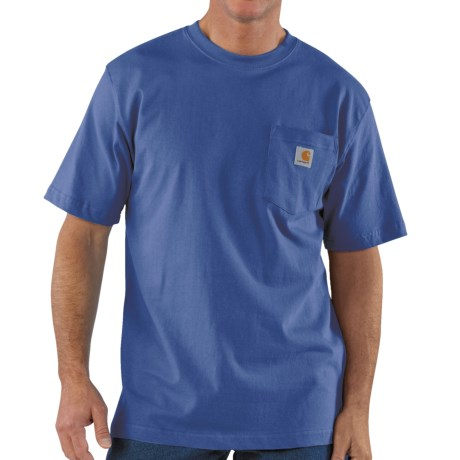 Carhartt Work Wear T-Shirt - Short Sleeve (For Men) in Royal
