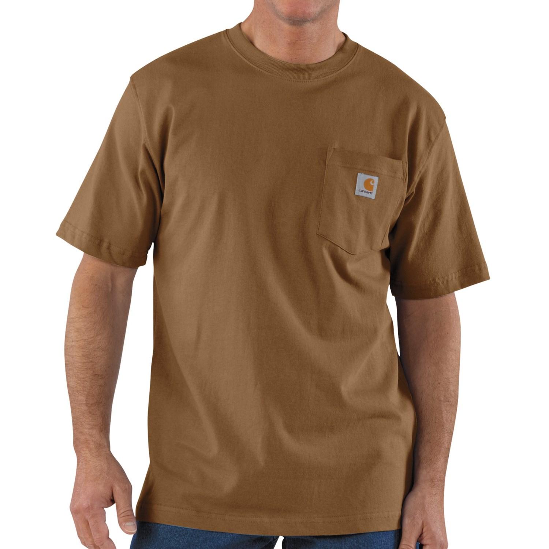 Carhartt work wear t shirt short sleeve for tall men for Tall mens work shirts