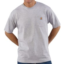 Carhartt Work Wear T-Shirt - Short Sleeve (For Tall Men) in Heather Grey - 2nds