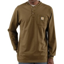 Carhartt Workwear Henley Shirt - Long Sleeve (For Men) in Brown Boot - 2nds