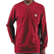 Carhartt Workwear Henley Shirt - Long Sleeve (For Men) in Independence Red - 2nds
