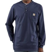 Carhartt Workwear Henley Shirt - Long Sleeve (For Men) in Navy - 2nds
