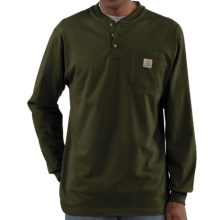 Carhartt Workwear Henley Shirt - Long Sleeve (For Men) in Olive - 2nds