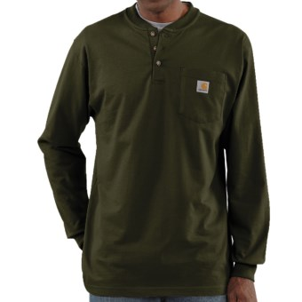 Carhartt Workwear Henley Shirt - Long Sleeve (For Men) in Olive