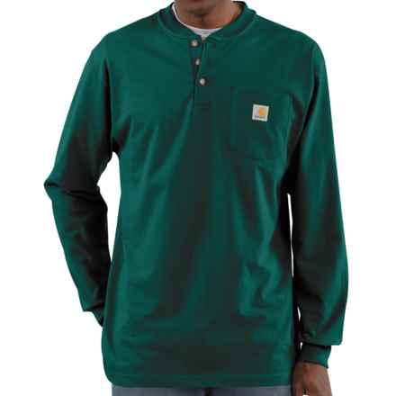 Carhartt Workwear Henley Shirt - Long Sleeve  (For Tall Men) in Hunter Green - 2nds