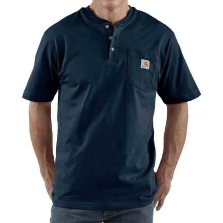 Carhartt Workwear Henley Shirt - Short Sleeve, Factory 2nds (For Men) in Navy - 2nds