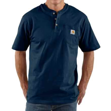 Carhartt Workwear Henley Shirt - Short Sleeve, Factory Seconds (For Men) in Navy - 2nds