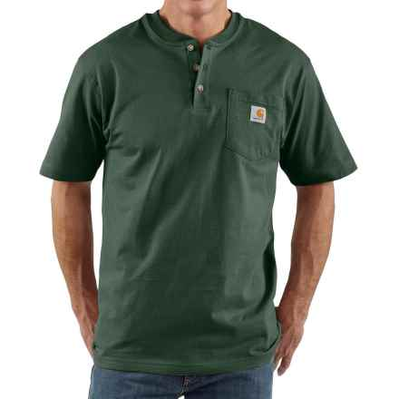 Carhartt Workwear Henley Shirt - Short Sleeve (For Big Men) in Hunter Green - 2nds