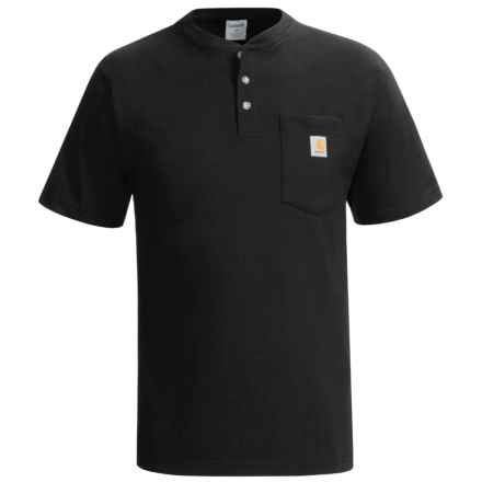 Carhartt Workwear Henley Shirt - Short Sleeve (For Men) in Black - 2nds