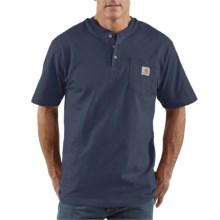 Carhartt Workwear Henley Shirt - Short Sleeve (For Men) in Dark Blue - 2nds
