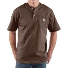 Carhartt Workwear Henley Shirt - Short Sleeve (For Men) in Dark Brown - 2nds