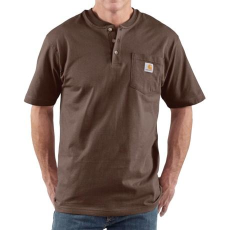 Carhartt Workwear Henley Shirt - Short Sleeve (For Men)