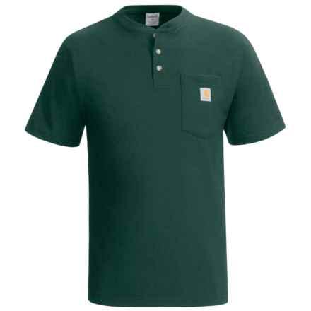 Carhartt Workwear Henley Shirt - Short Sleeve (For Men) in Hunter Green - 2nds