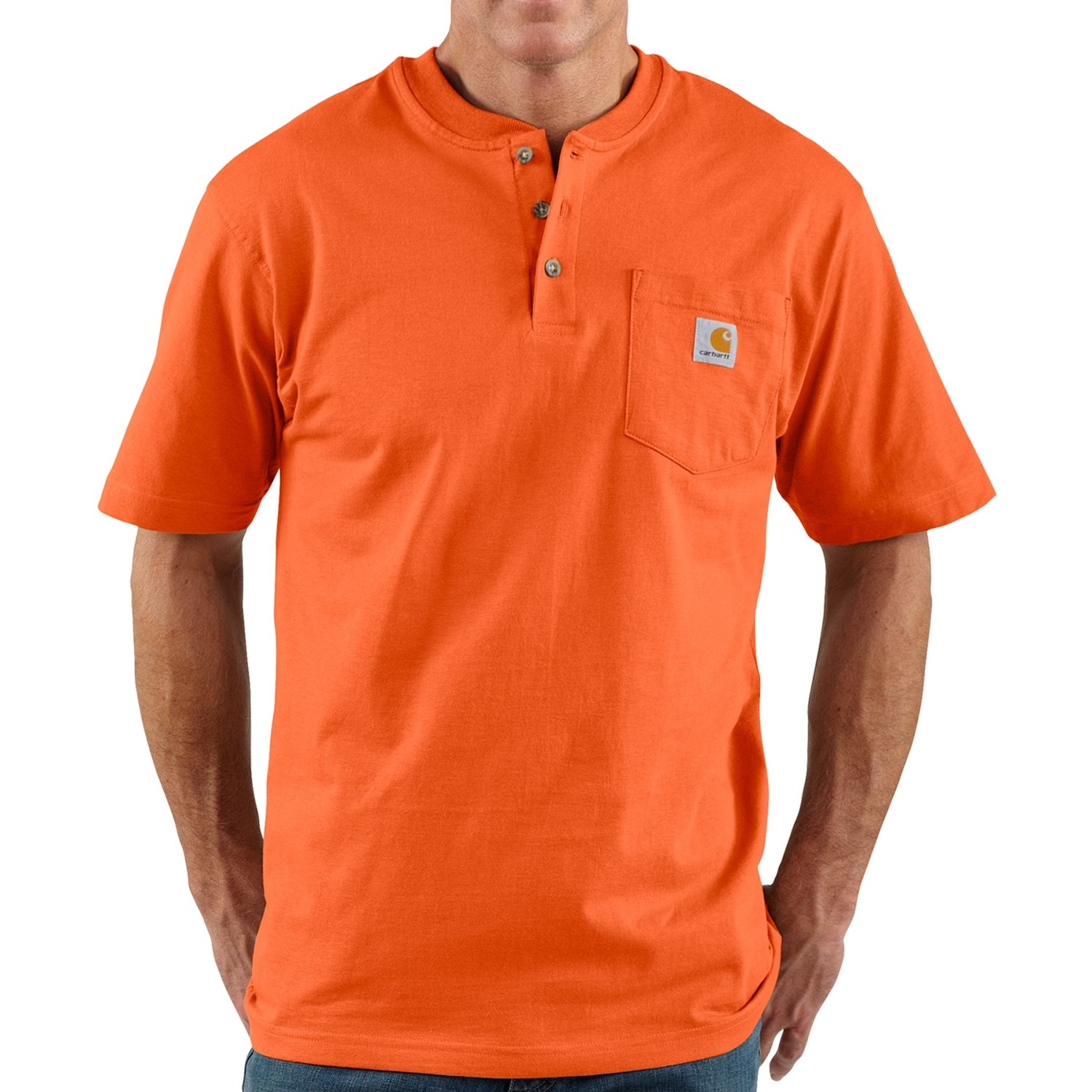 Carhartt Workwear Henley Shirt Short Sleeve For Men